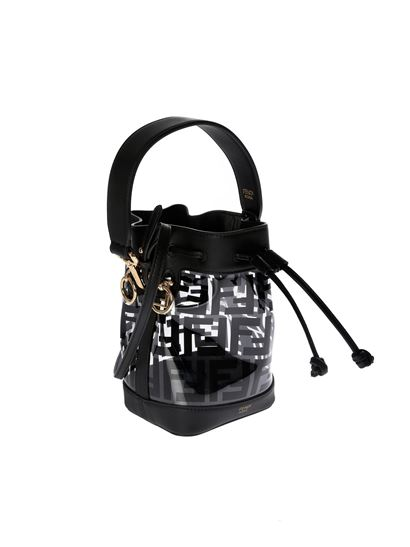 b187b21aa63f Fendi Spring Summer 2019 mon tresor bucket bag in black - 8BS010 ...