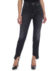 Department 5 - Carma black jeans with fringed bottom