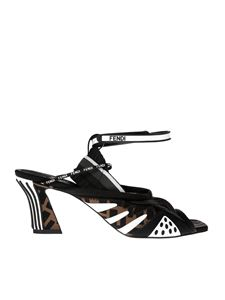Fendi - FFreedom sandals in brown and black