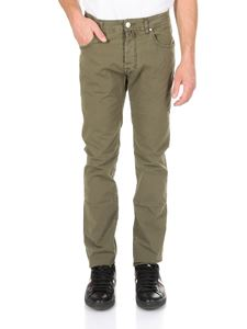 Jacob Cohën - 5-pockets jeans in military green