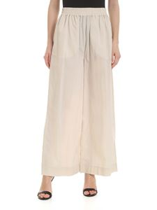 Woolrich - Wide leg trousers in beige