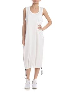 Y-3 Yohji Yamamoto - Drawstring Long Tank dress in white