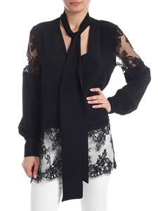 MSGM - MSGM blouse in black fabric and lace