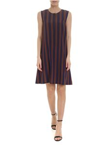 Woolrich - Scully dress in blue and brown