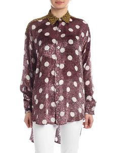 Golden Goose Deluxe Brand - Lavanda  shirt in wine color with polka dots