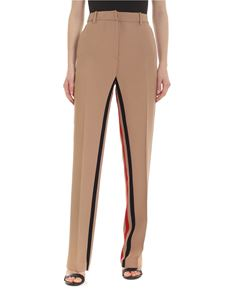 N° 21 - Trousers in beige with colored bands