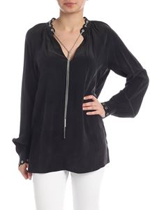 Michael Kors - Silk blouse in black with chain detail