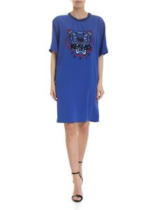 Kenzo - Tiger dress in electric blue