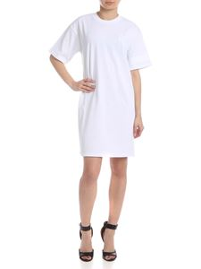 GCDS - Dress in white with tone on tone logo details