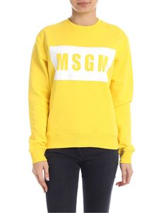 MSGM - Sweatshirt in yellow with contrasting logo print