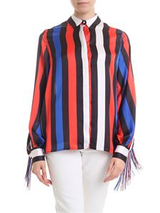 MSGM - Striped shirt in multicolored with fringe