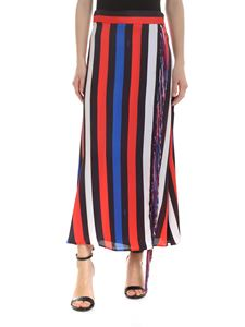 MSGM - Striped multicolored skirt