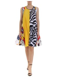 MSGM - Scarf and fruits printed pleated dress