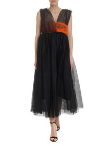 MSGM - Tulle dress in black with contrasting ribbon