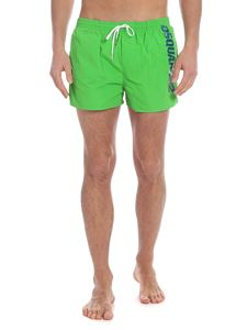Dsquared2 - Green boxer swimsuit with blue logo