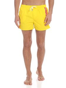 Dsquared2 - Yellow boxer swimsuit with fuchsia logo