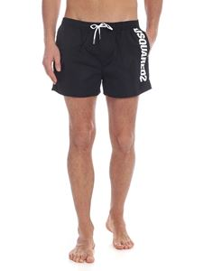 Dsquared2 - Black boxer swimsuit with logo
