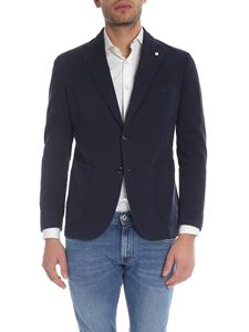 L.B.M. 1911 - Single-breasted jacket in night blue