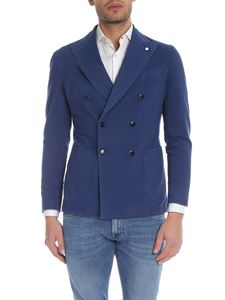 L.B.M. 1911 - Double-breasted jacket in bluette