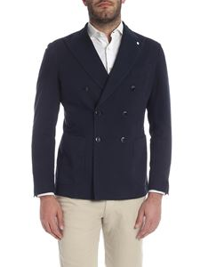 L.B.M. 1911 - Double-breasted jacket in dark blue
