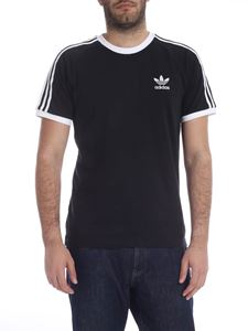 Adidas - 3 Stripes T-shirt in black and white