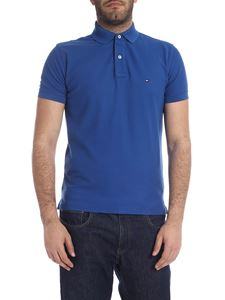 Tommy Hilfiger - Blue polo with logo embroidery
