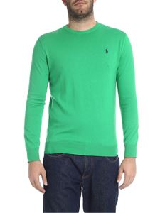 POLO Ralph Lauren - Slim Fit pullover in green with logo embroidery