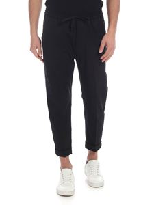 Emporio Armani - Black wool trousers with logo