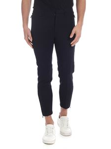 Emporio Armani - Navy blue trousers with metal logo