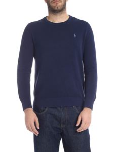 POLO Ralph Lauren - Blue pullover with light blue logo embroidery