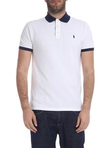 POLO Ralph Lauren - Slim Fit polo in white with blue logo