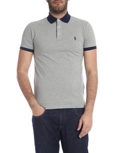 POLO Ralph Lauren - Slim Fit polo in grey melange with logo