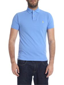 POLO Ralph Lauren - Slim Fit polo in light blue with logo
