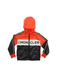 Moncler - Hexagon jacket in orange and black