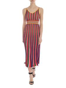 Pinko - Belcolore dress with multicolor stripes