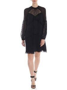 Pinko - Goloso dress in black with rouches