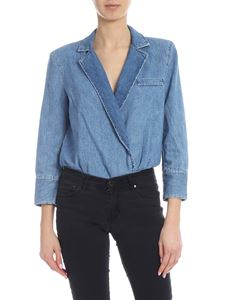 Pinko - Chad body in light blue denim