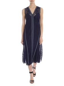 Pinko - Patito dress in blue with light lue ribbon