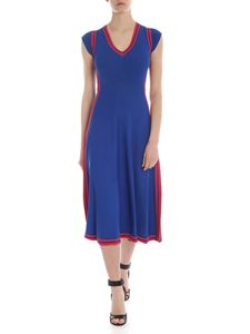 Pinko - Enfer dress in electric blue with contrasting edges