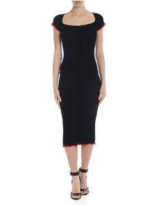 Pinko - Dolcetto dress in black with red edges