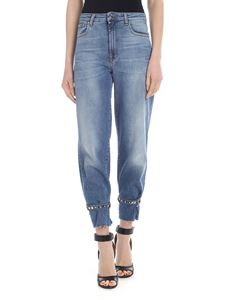 Pinko - Bobby jeans in light blue with straps