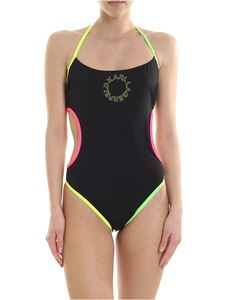 Karl Lagerfeld Beachwear - K/Neon swimsuit in black