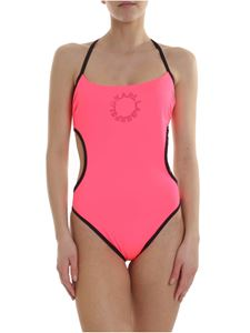 Karl Lagerfeld Beachwear - K/Neon swimsuit in fluorescent pink