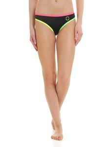 Karl Lagerfeld Beachwear - Neon bikini briefs in black
