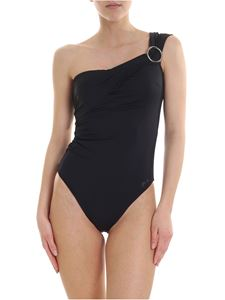 Karl Lagerfeld Beachwear - One-shoulder swimsuit in black