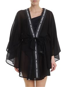 Karl Lagerfeld Beachwear - Black kimono with branded bands