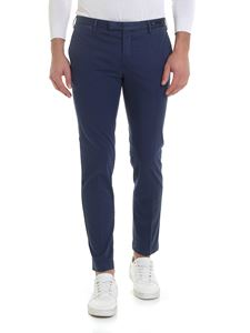 PT01 - Blue trousers with dark blue micro pattern