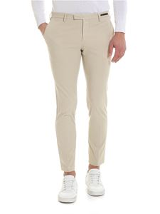 PT01 - Beige trousers with slash pockets