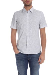 PS by Paul Smith - Camicia bianca con micro stampa a contrasto