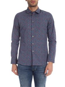 PS by Paul Smith - Camicia Slim Fit blu con stampa floreale